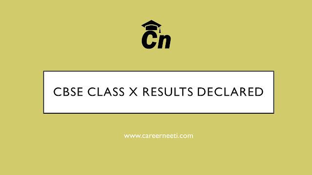 CBSE Class 10 Results, Class 10th result CBSE Board, Careerneeti