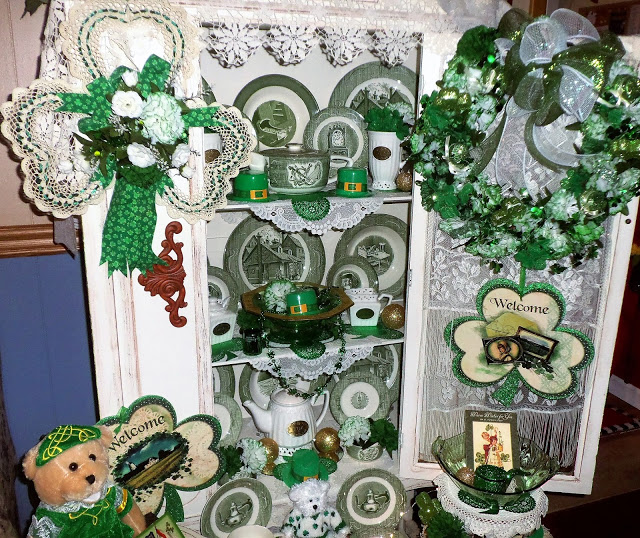 St. Patrick's Day China Cupboard, Part 1, 2017