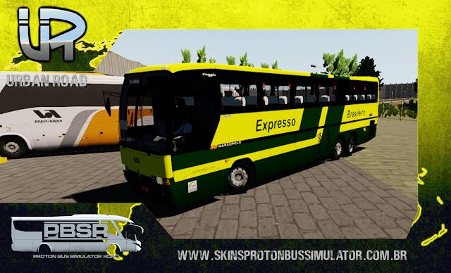 Skin Proton Bus Simulator Road - GV 1150 MB 0400 RSD Viação Expresso Brasileiro