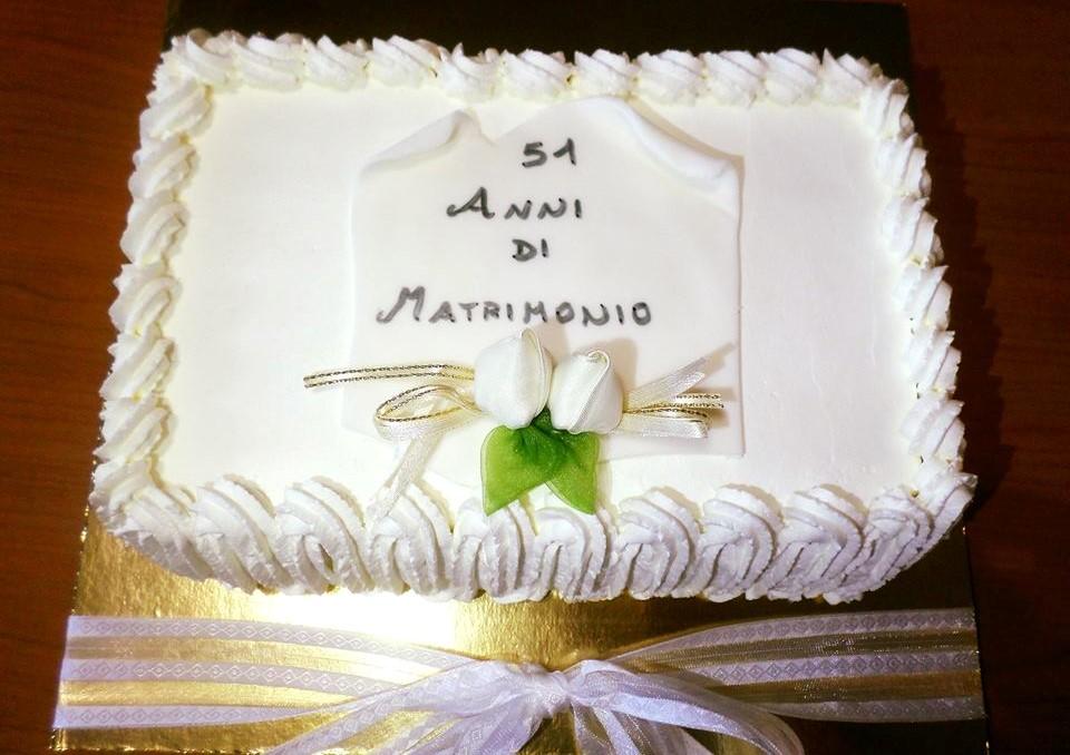 Anniversario Di Matrimonio 51 Anni.Uno Per Torta Torte Per Tutti Torta Anniversario Di Matrimonio