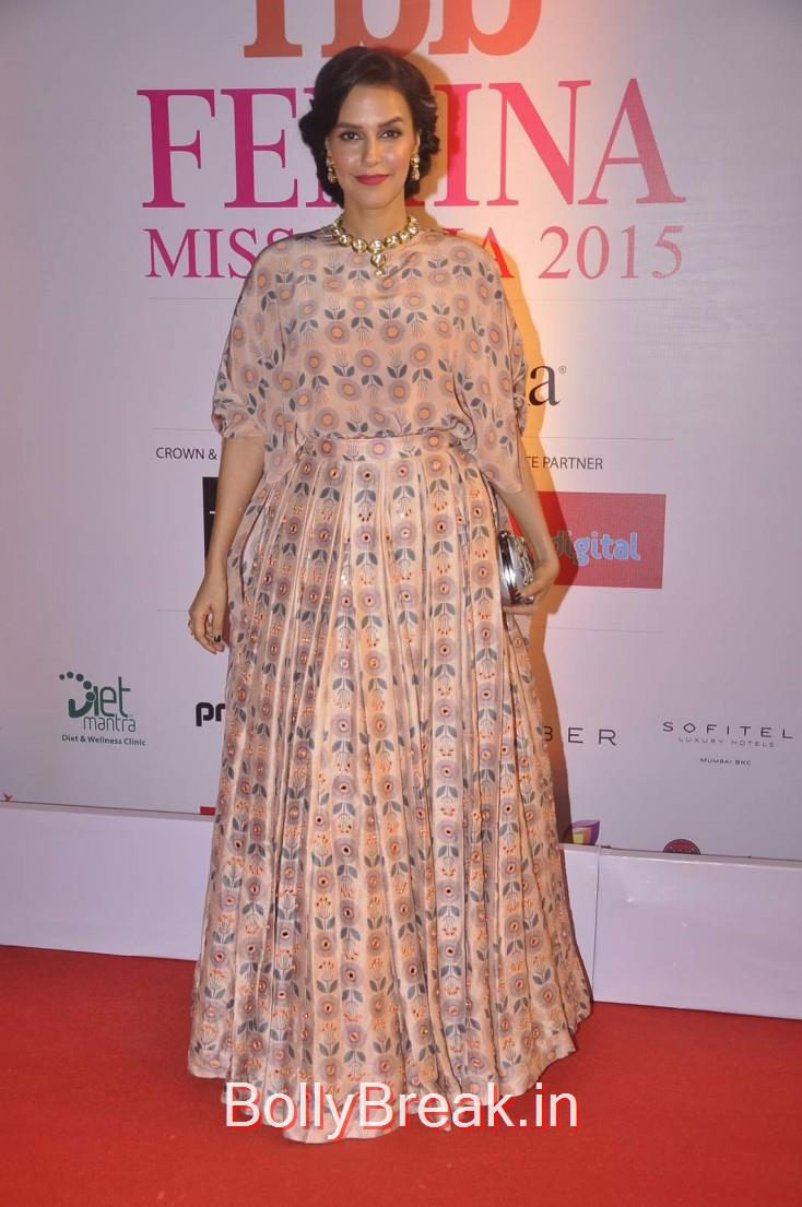 Neha Dhupia, Femina Miss India 2015 Red Carpet Photo Gallery