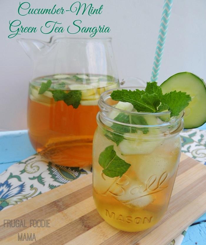 Cucumber-Mint Green Tea Sangria