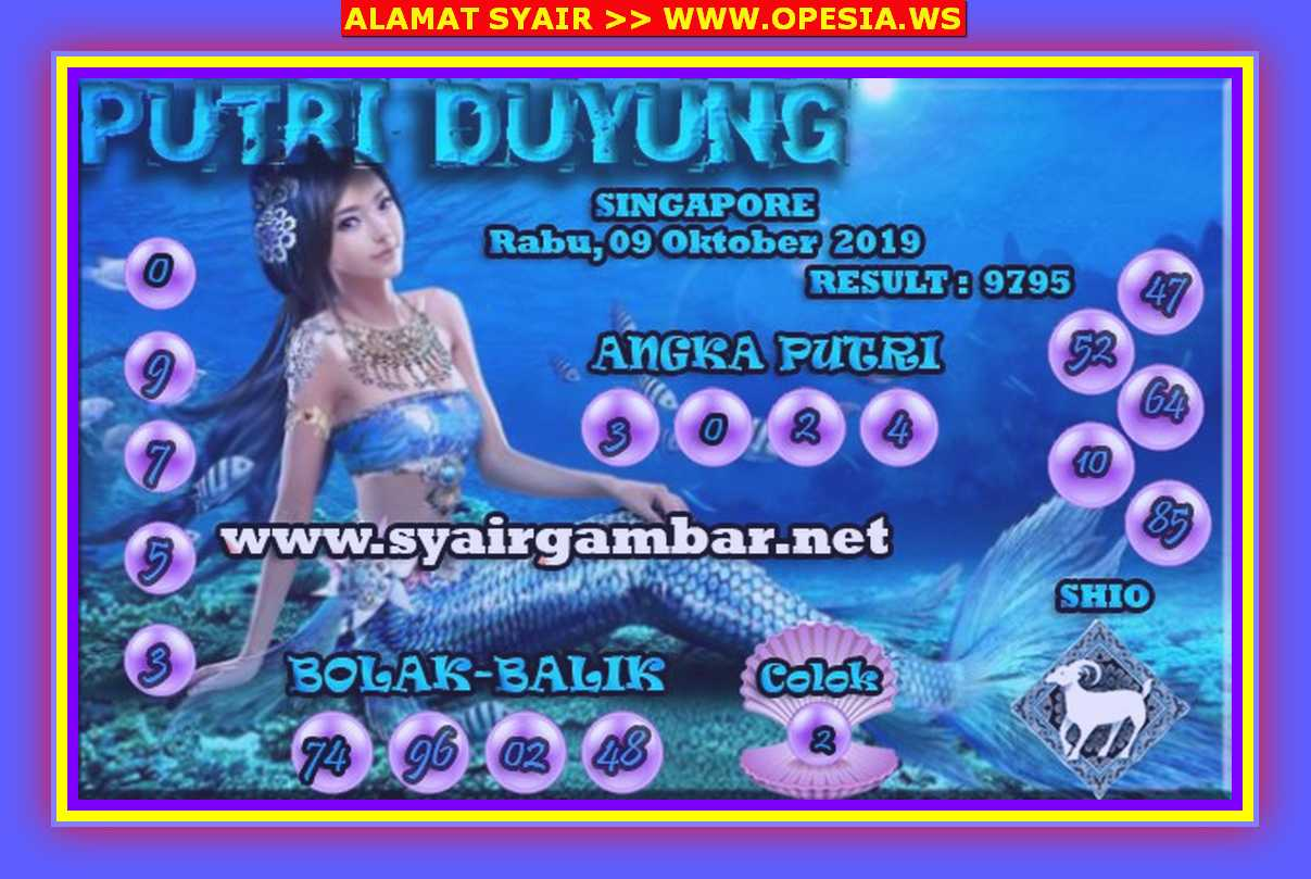 Kode syair Singapore Rabu 9 Oktober 2019 35