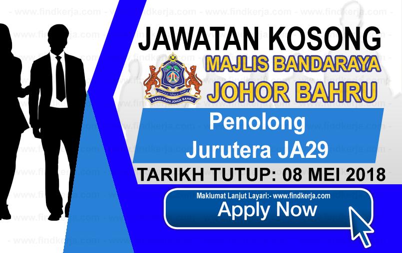 Jawatan Kerja Kosong MBJB - Majlis Bandaraya Johor Bahru logo www.findkerja.com mei 2018