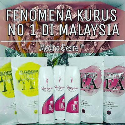 Detox Tea Medina Desire | Fenomena Kurus No 1 Di Malaysia