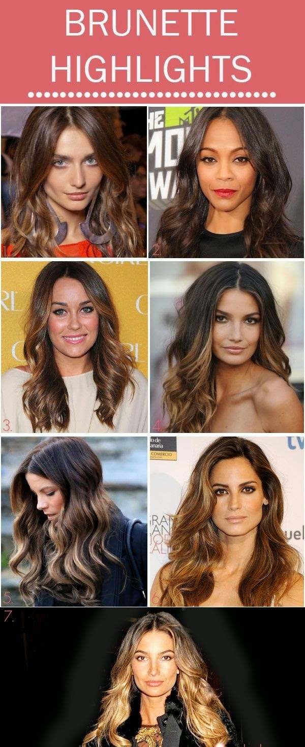 Brunette balayage Highlights looks from celebrities