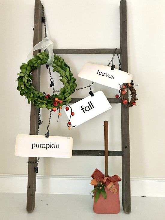 repurposed wooden ladder DIY