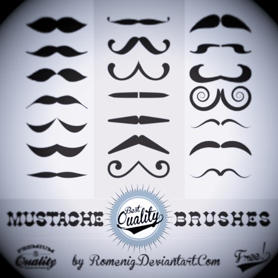 Efeito Photoshop: Mustache Free Photoshop Brushes
