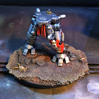 Grey Knight Grand Master in DreadKnight 1st pass w/weathering powders