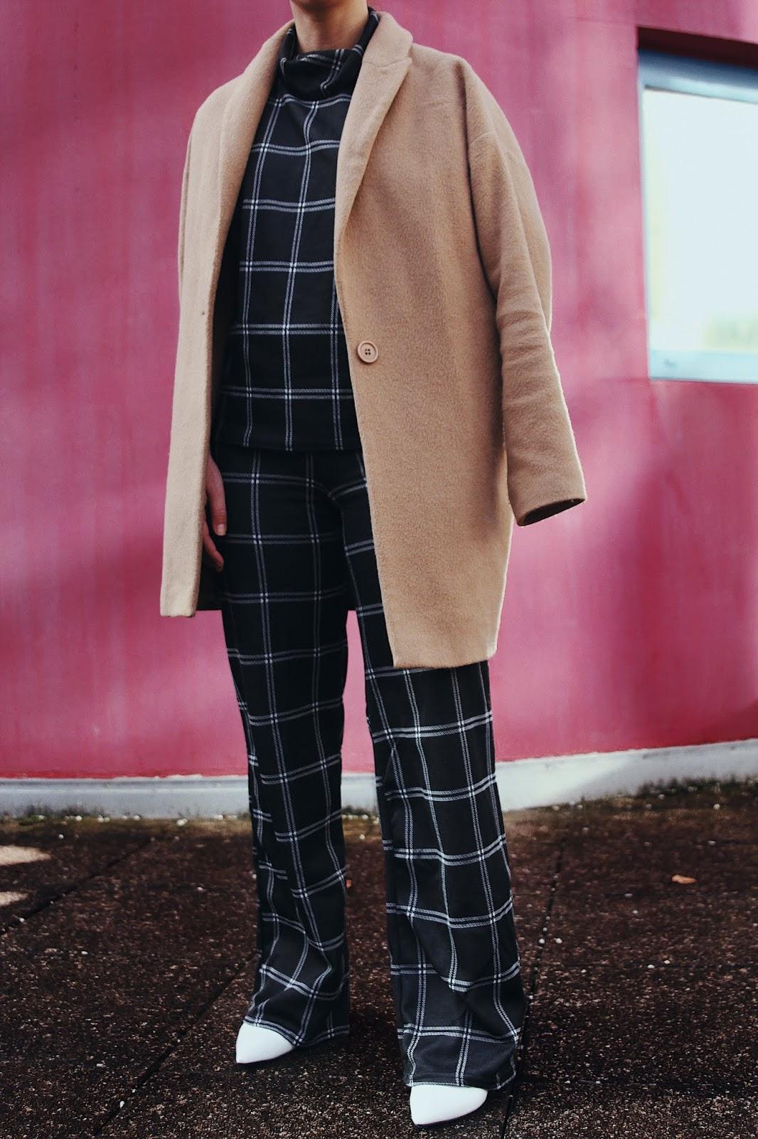 total look carreaux, tendance automne hiver 2018, idée de look