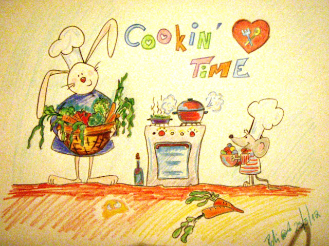 i love cooking funny drawing coloured pencils