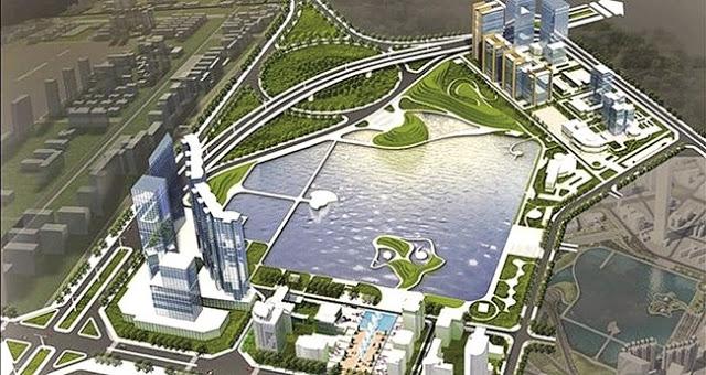 Phối cảnh tổng thể dự án chung cư Vinhomes Phạm Hùng