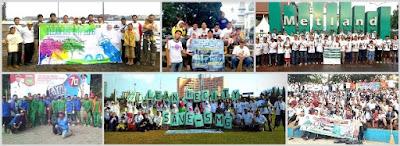aksi clean the city di kota besar indonesia
