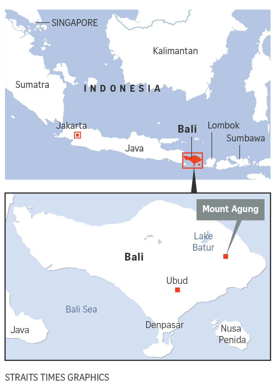 Bali officials say resort island remains safe despite heightened alert over Mount Agung volcano.