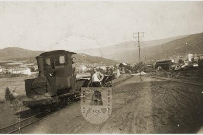 """Locomotora Couillet, """"la maquinilla"""" en Barruelo de Santullán."""