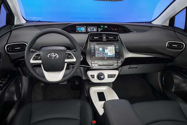 Interior view of 2017 Toyota Prius Four