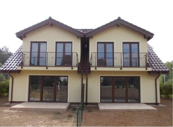 Constructii case pe structura de lemn | Case din lemn cu etaj model Duplex.