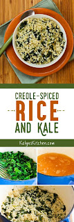 Creole-Spiced Rice and Kale found on KalynsKitchen.com