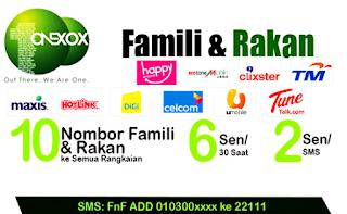 Pengalaman Bersama ONEXOX-10 Friend and Family