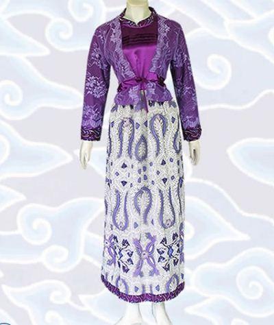 model gamis batik kombinasi modern