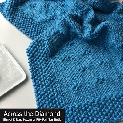 Fifty Four Ten Studio Across The Diamond Chunky Blanket Knitting