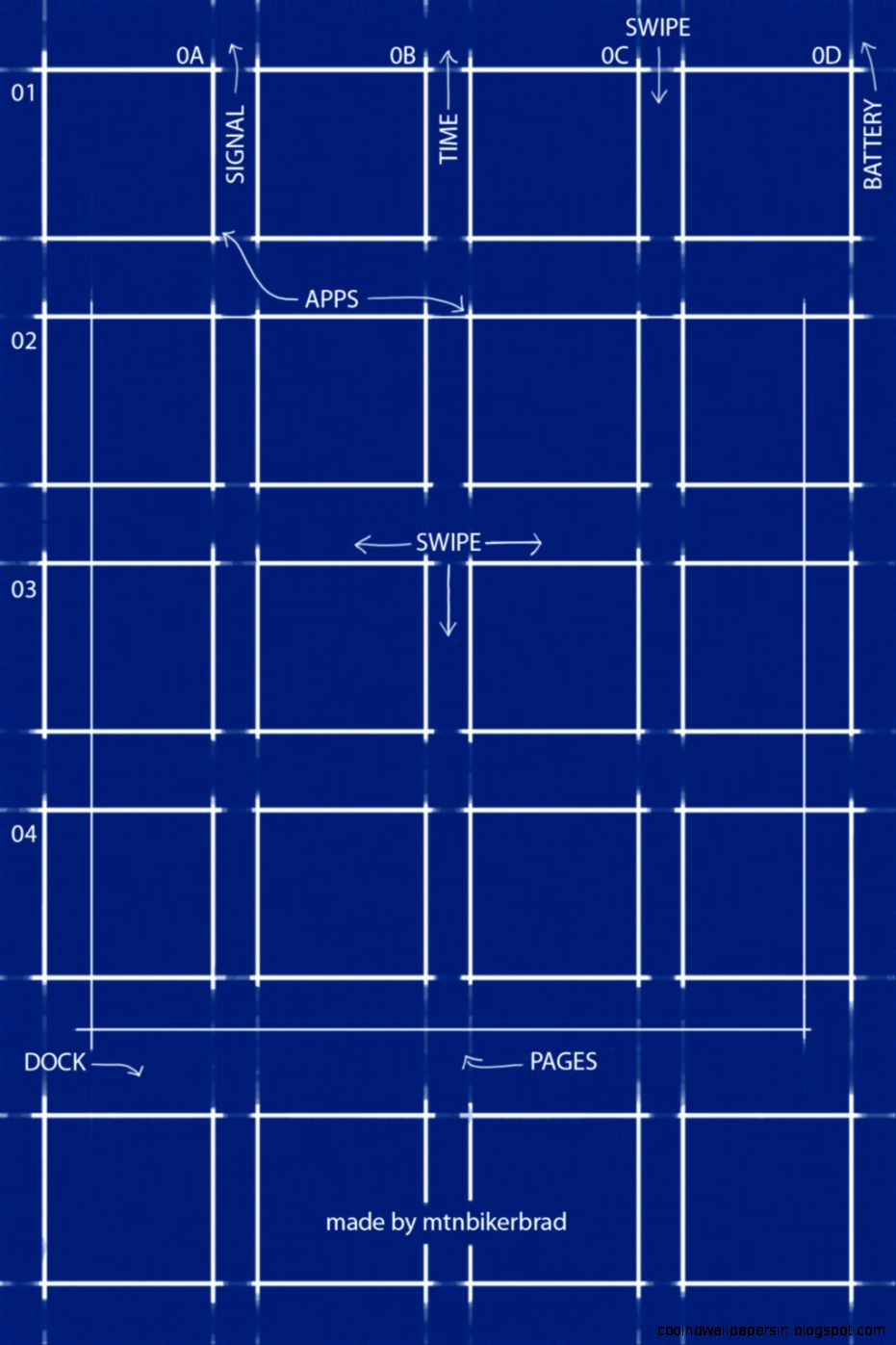 View Original Size Ipad 3 Blueprint Wallpaper