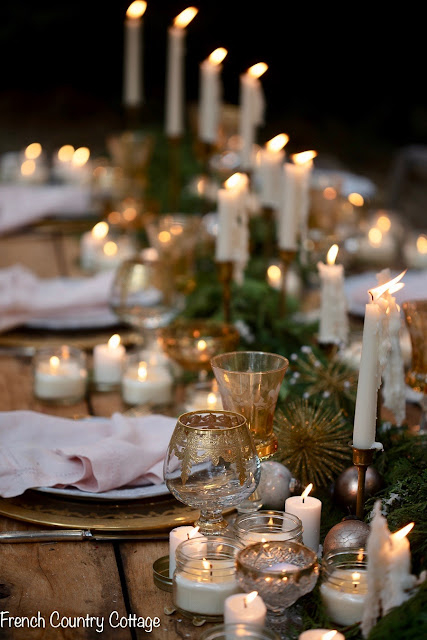 Christmas ambiance - a table under the stars