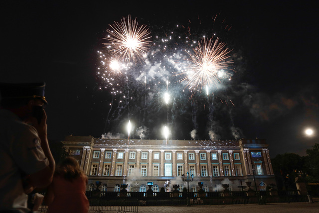 Firework display for The  New King and Queen of Belgium