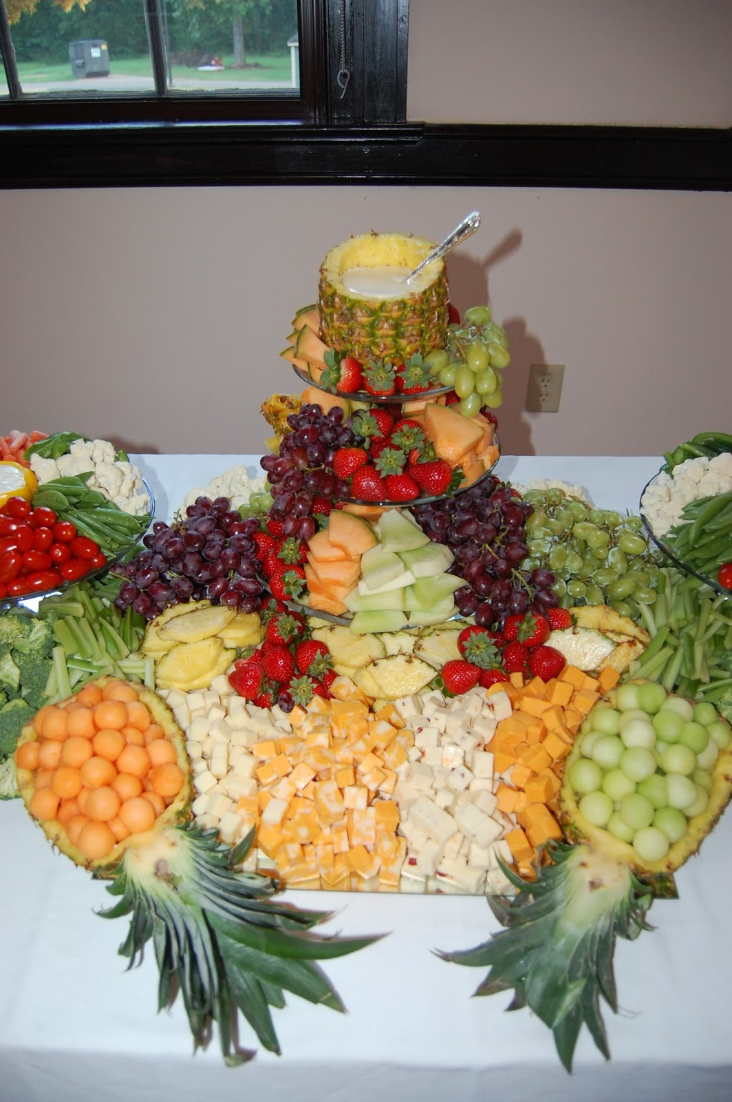 Table Top Fruit Basket Cook Create Consume Fruit Vegetable And Cheese Platter