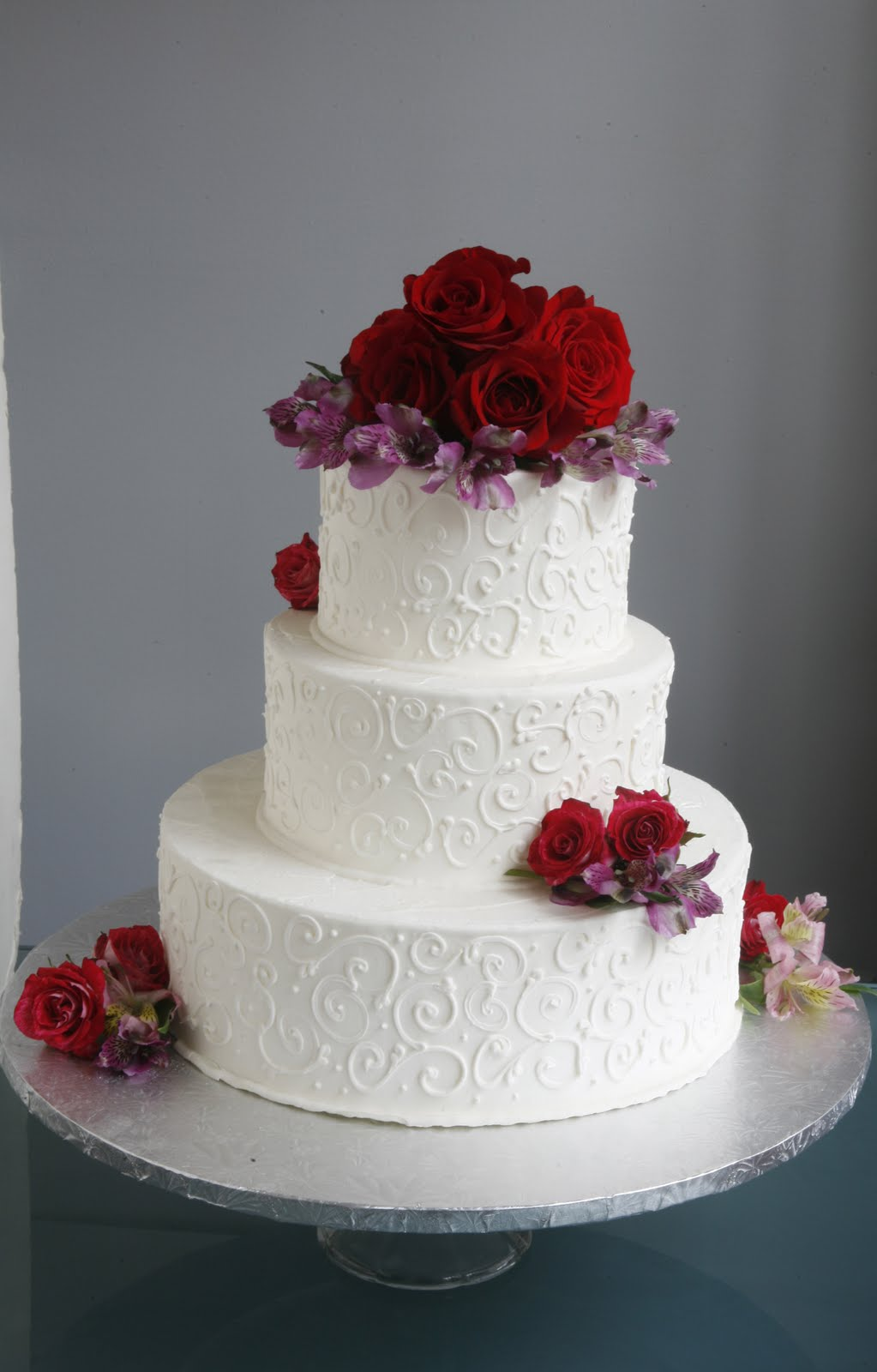 Wedding Cake With Fresh Flowers From Trader Joe S