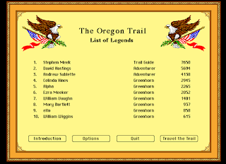 Top 5 Players: The Oregon Trail Game