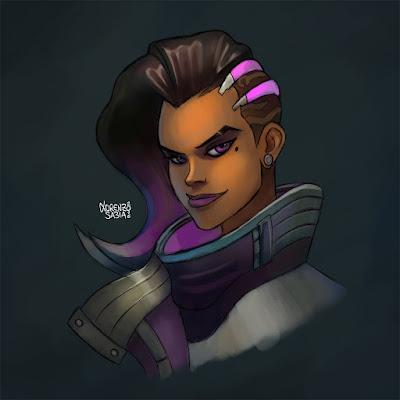 Overwatch Sombra by Lorenzo Sabia