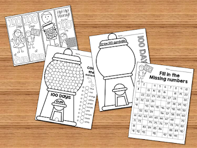 100th day printables and worksheets to keep your kids busy and having fun while learning.