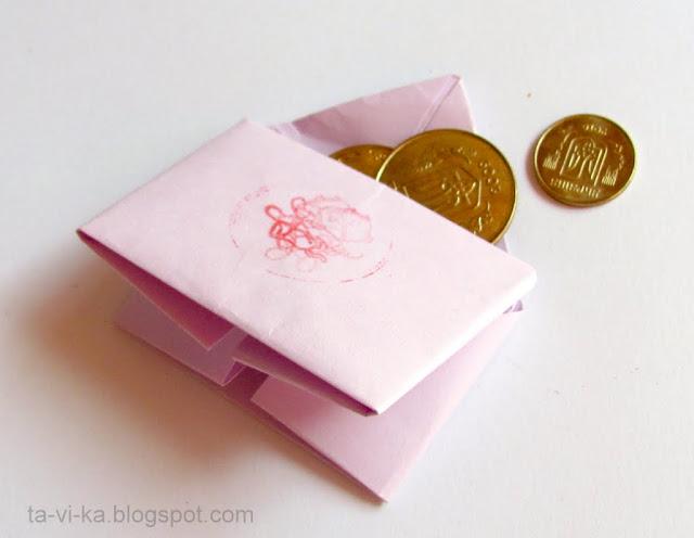 кошелек из бумаги paper bag