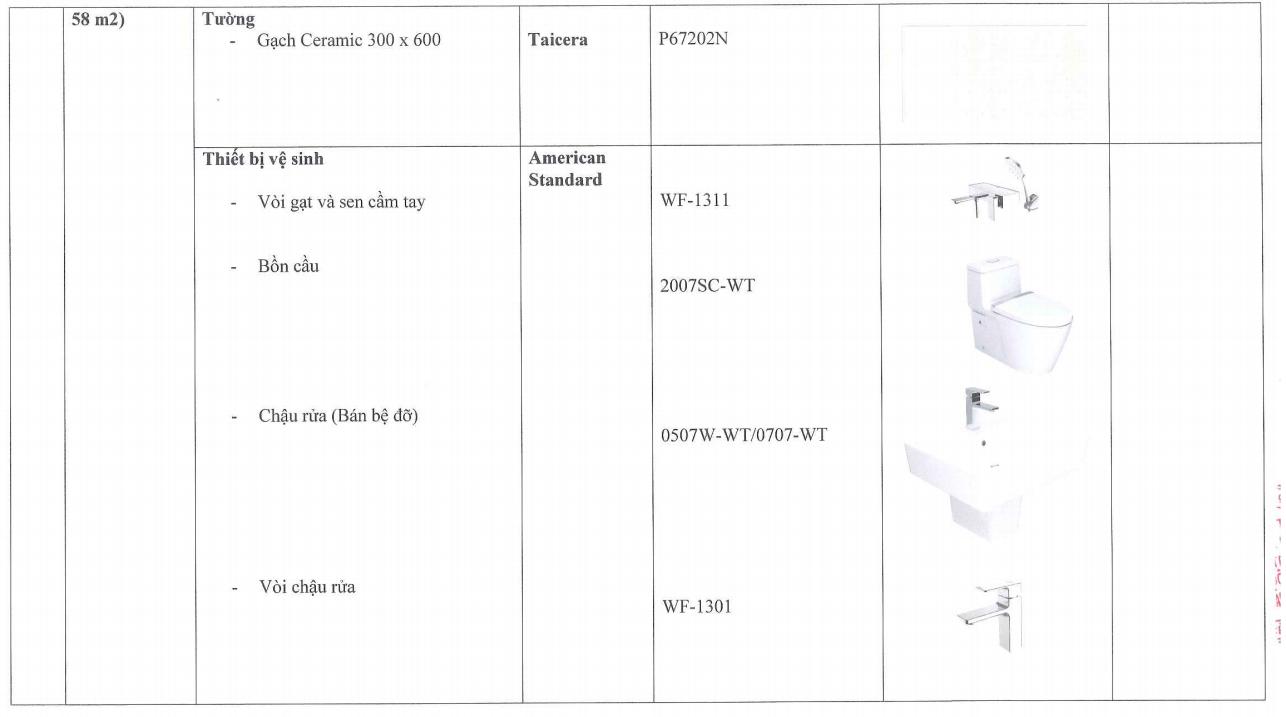 Trang thiết bị hoàn thiện Căn hộ TheLINK345 Ciputra, 9