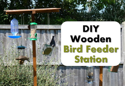 make a wood bird feeder