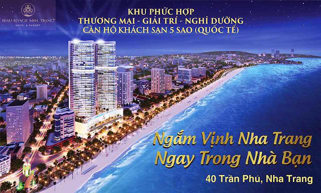 Beau Rivage ngắm vịnh Nha Trang trong nhà bạn