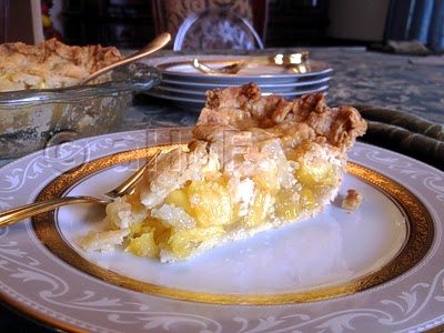 Fresh Pineapple Pie with Lattice Top Crust