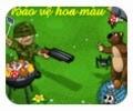 Bảo vệ ruộng nấm, game hanh dong