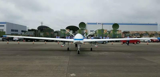 Image Attribute: China's Yaoying II MALE UAV at Anshun Huangguoshu Airport's tarmac on July 3, 2018, / Source: Chinese Media