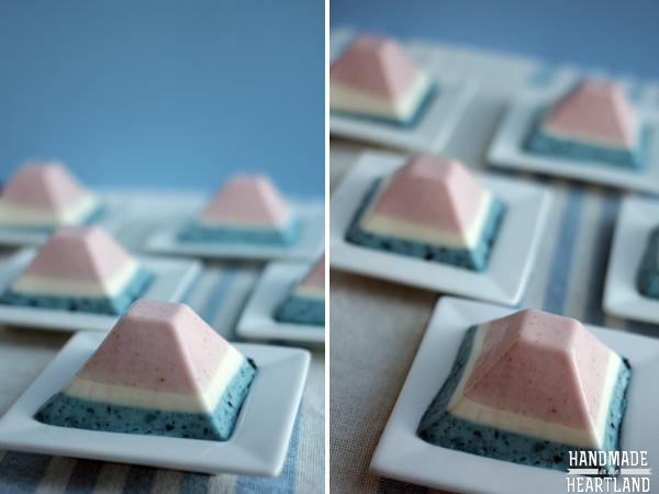 Red, White & Blue Dessert, Panna Cotta