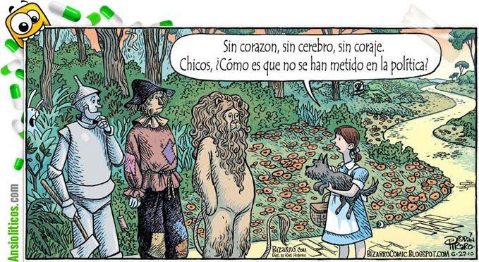 Chiste de Política: Mago de Oz