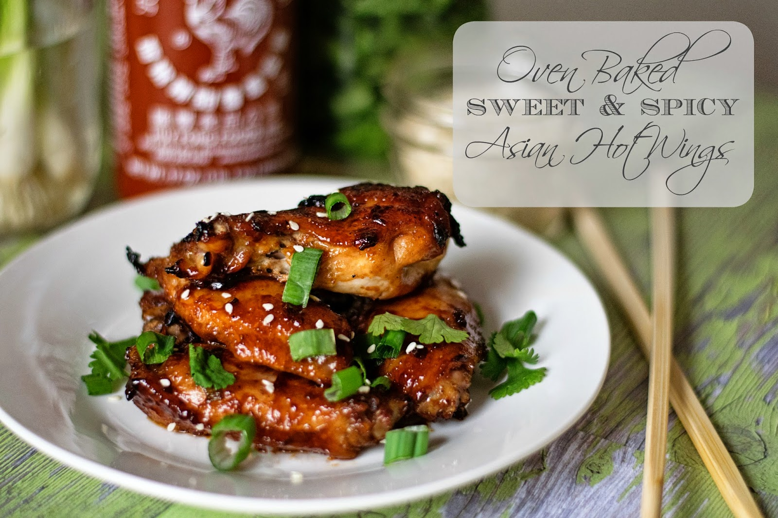 Sweet and Spicy Asian Wings Title