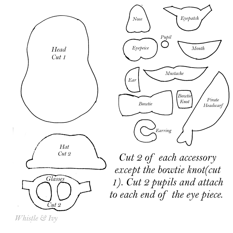 Mr Potato Head Quietbook Page Template