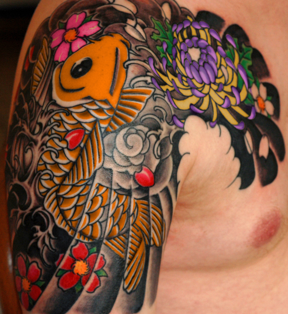 Japanese phoenix tattoo and lotus izmirmasajfo