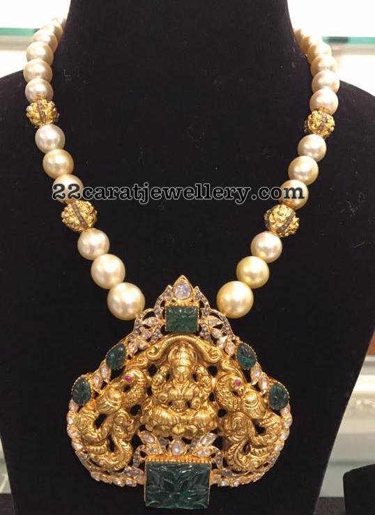 South Sea Pearls Set Fancy Lakshmi Pendant
