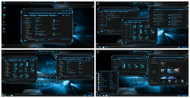 Alienware Evolution SkinPack for Windows 10