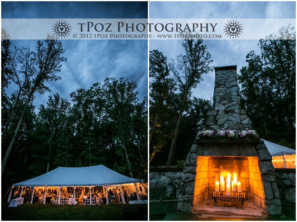 Backyard Tented Wedding Reception Clarksville Maryland