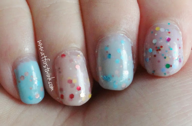 Tony Moly glitter yogurt nail polishes