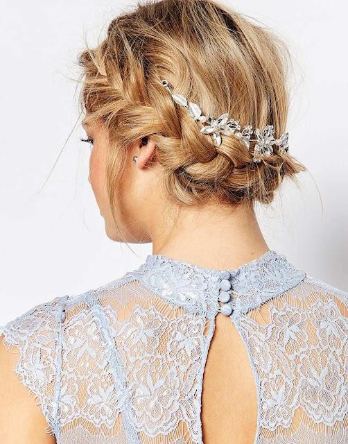 love rocks asos wedding, love rocks diamante hair, love rocks hair drape, flower wedding hair drape,